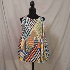 Cold shoulder long sleeve blouse